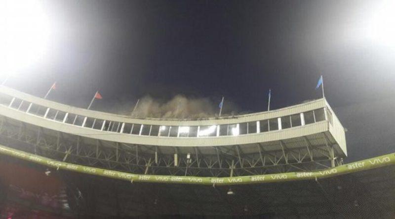Fuego en el Estadio Quisqueya; se suspende juego entre Gigantes y Escogido