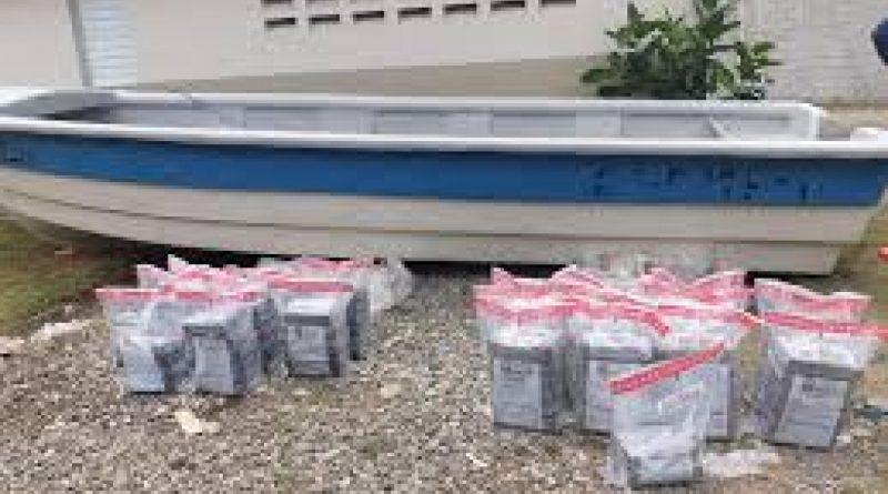 Decomisan 217 kilos de cocaína en las costas de Azua
