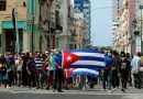Manifestaciones en contra y a favor del gobierno de Cuba en embajadas de América Latina